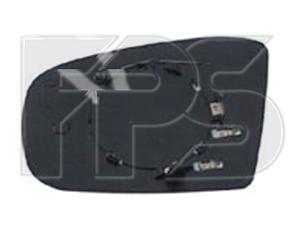 Левый вкладыш зеркала Мерседес 163 -05 с обогревом асферический 02- / MERCEDES ML-Class W163 (1997-2005)