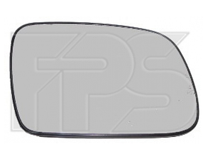 Левый вкладыш зеркала Пежо 307 01-05 с обогревом асферический хромир. 03-06 / PEUGEOT 307 (2001-2005)