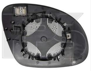 Левый вкладыш зеркала Вольксваген Тигуан 07- с обогревом асферический / VOLKSWAGEN TIGUAN (2007-2016)