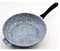 Сковорода литая WOK с антипригарным гранитным покрытием Benson BN-521 (28*7см) / сковородка вок