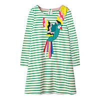 Красивое детское платье для девочки Попугай Jumping Meters