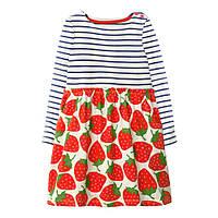 Красивое детское платье для девочки Клубника Jumping Meters