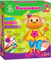 Вишивка стрічками і гудзиками Мавпочка Vladi Toys (VT4701-02)