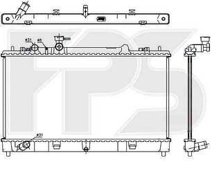 Радиатор Мазда 6 (GH) 08- / MAZDA 6 (2008-2013)