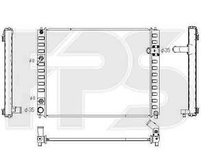 Радиатор Инфинити FX35/Инфинити FX55 09- / INFINITI FX