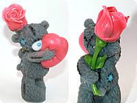 """Мыло ручной работы """"Мишка Тедди с розой и сердцем"""""""