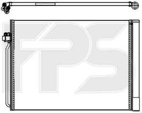 Радиатор кондиционера БМВ X5 (E70) 06-10 / BMW X5 E70 (2006-2013)