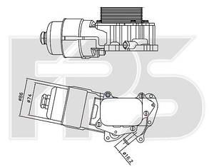 Масляный радиатор Тойота AYGO / TOYOTA AYGO (2005-2014)
