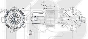 Вентилятор салона Пежо 307 / PEUGEOT 307 (2001-2005)