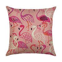 Подушка декоративная Фламинго 45 х 45 см