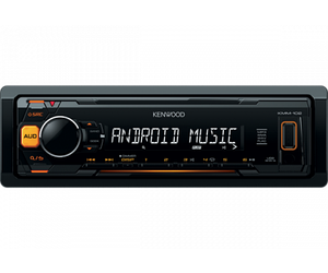 Автомагнитола Kenwood KMM-102AY Orange