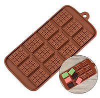 Силиконовая форма Плитка шоколада маленькая, шоколадка