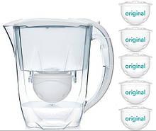 Глечик для води Oria з 5 x 60-денними картриджами для води
