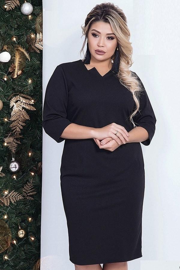 Платье женское карандаш, черное. Размеры 48, 50, 52, 54