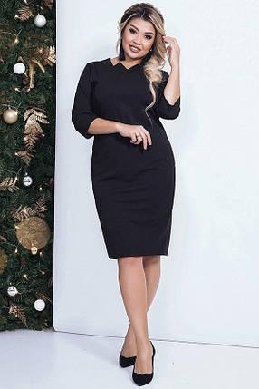 Платье женское карандаш, черное. Размеры 48, 50, 52, 54, фото 2