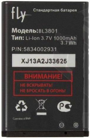 Аккумулятор для Fly DS115 оригинальный, батарея BL3801, фото 2