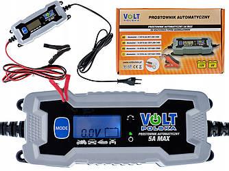 Универсальное зарядное устройство для аккумуляторов VOLT POLSKA 6/12V 5A LCD