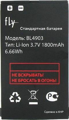 Аккумулятор Fly BL4903 оригинальный для мобильного телефона Fly DS165, фото 2