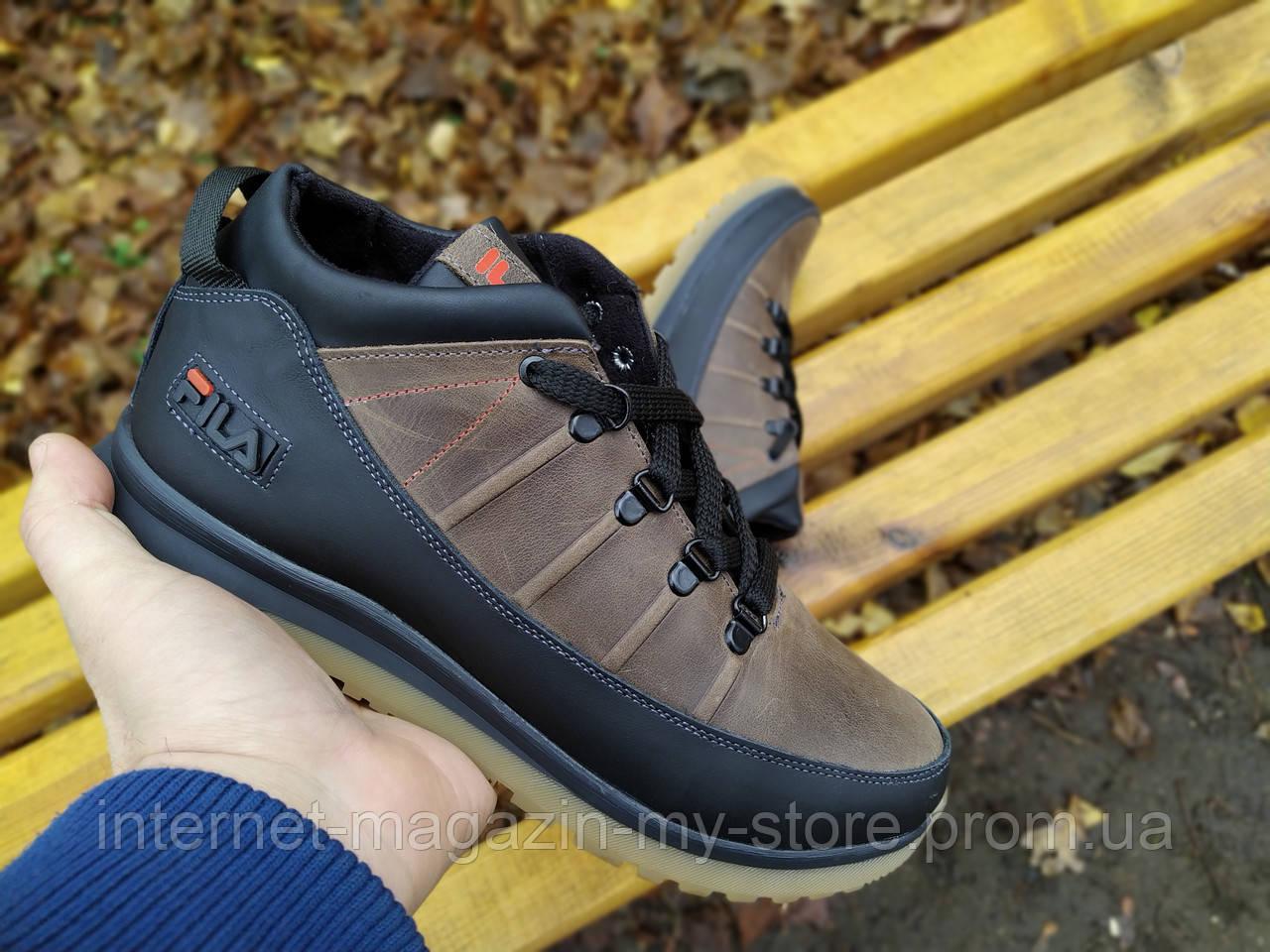 Мужские кожаные зимние ботинки Filla