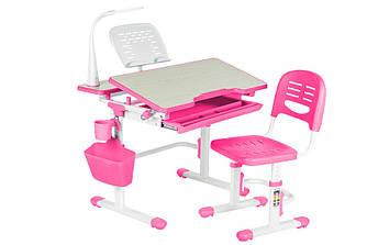 Регулируемый детский стол-парта Fundesk Lavoro Pink