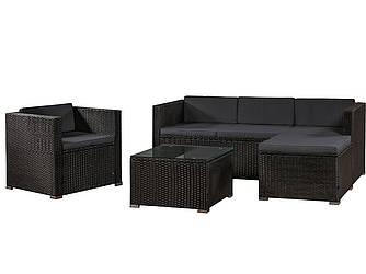 Комплект садовой мебели - угловой диван / журнальный столик / кресло