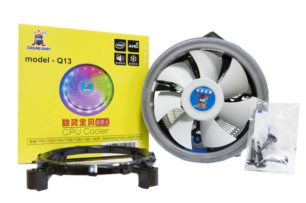 Кулер для процессора Cooling Baby Q13 LGA 1150/1151/1155/1156/775, FM1/FM2/AM2/AM2+/AM3/AM3+/AM4