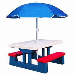 Столик со скамейками и зонтиком детский