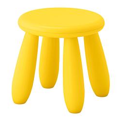 Табурет детский IKEA МАММУТ желтый
