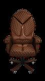 Эргономичное кресло KULIK SYSTEM DIAMOND Коричневое (101), фото 9