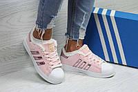 Кроссовки женские розовые Adidas Superstar 6363