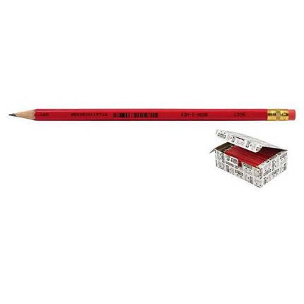 Карандаш графитный Koh-I-Noor 1396-1-0113 HB с резинкой, фото 2