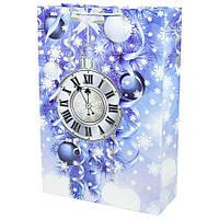 Пакет новогодний большой вертикальный Часы PVM304712-5  размер 30х47х12см