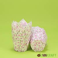 """Паперова форма """"Тюльпан"""" (ТЛ-150, d=50, h=60/80) """"Сакура"""" рожево-коричнева"""