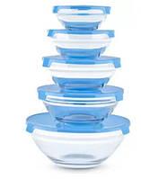 Набор стеклянных емкостей с крышками Cooking Bowl 5 шт