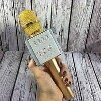 Беспроводной караоке микрофон со встроенной колонкой Q9 / Портативный беспроводной микрофон