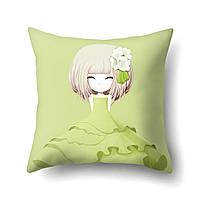 Подушка декоративная Девочка и азалия 45 х 45 см