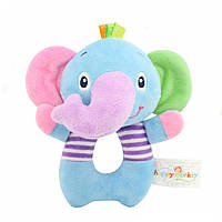 Мягкая игрушка - погремушка Слоненок для малыша