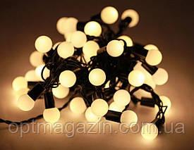 Светодиодная гирлянда Шарик Тепло-белый 40 шариков 6 метров