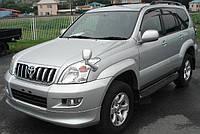 Дефлекторы боковых окон (ветровики) 4 части тёмные Toyota Land Cruiser Prado 120