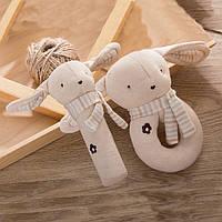 Набор мягких игрушек - погремушек Зайчата для малыша