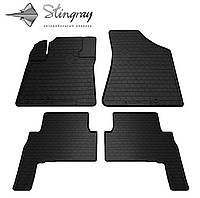 Kia Sorento 2009-2012 Комплект из 4-х ковриков Черный в салон
