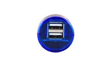 USB адаптер от прикуривателя авто (2 usb разъёма) D100