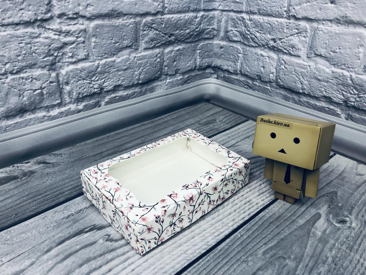 *10 шт* / Коробка для пряников / 100х150х30 мм / печать-Сакура / окно-обычн / лк