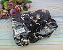 Велюровая резинка для волос с кольцами черная 20 шт/уп., фото 2