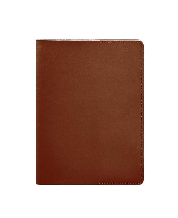 Обложка кожанная для блокнота, софт-бука коричневая (ручная работа)