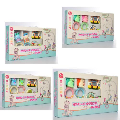 Карусель на кроватку заводная 8969-79-89 детская развивающая игрушка
