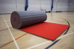 Рулонный мат для спорт зала