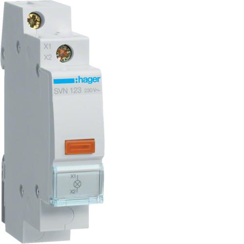 Световой индикатор с диодом Hager LED 230В желтый (SVN123)