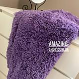 Покривало травичка | Плед травичка. Blumarine - густий, довгий ворс. Полуторний 160*220 см Колір Фіолетовий ., фото 3