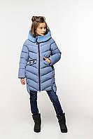 Теплая зимняя куртка для девочки Афина на биопухе, разные цвета